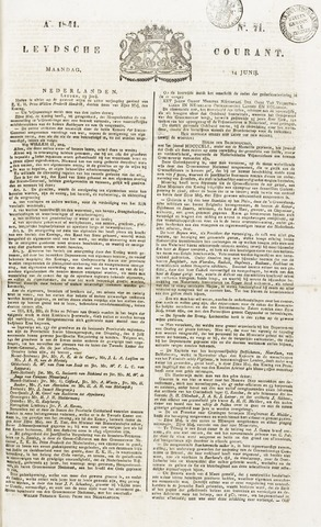 Leydse Courant 1841-06-14