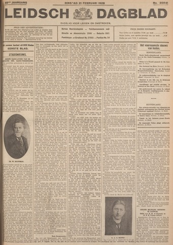 Leidsch Dagblad 1928-02-21