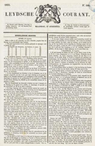 Leydse Courant 1855-08-27