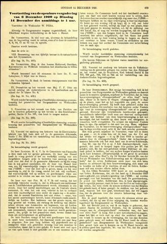 Handelingen van de Raad 1920-12-14