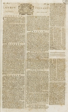 Leydse Courant 1817-08-06