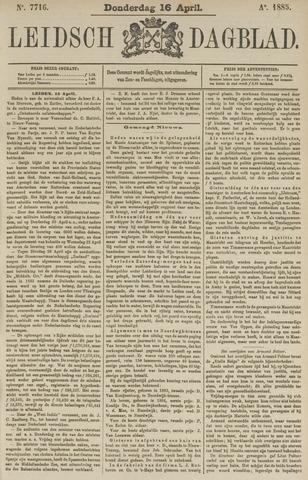 Leidsch Dagblad 1885-04-16
