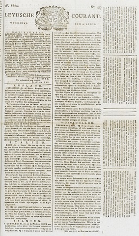 Leydse Courant 1824-04-14