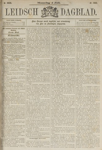 Leidsch Dagblad 1892-07-04