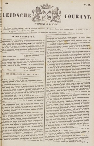 Leydse Courant 1884-01-16