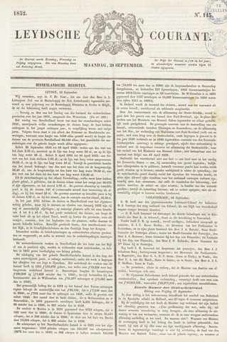 Leydse Courant 1852-09-20