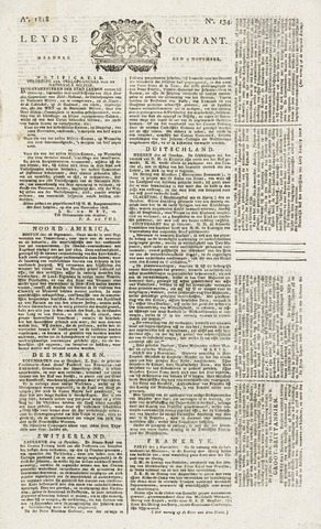 Leydse Courant 1818-11-09