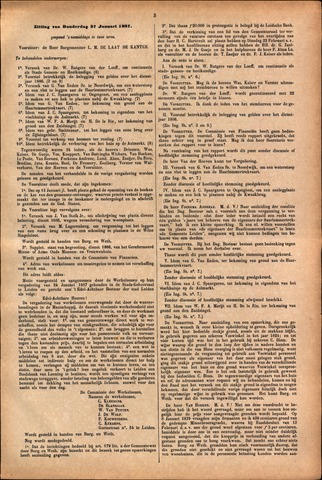 Handelingen van de Raad 1887-01-27