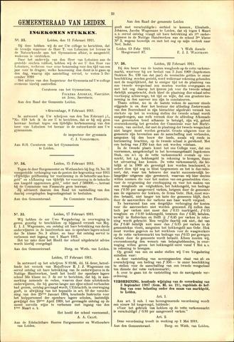 Handelingen van de Raad 1911-02-11