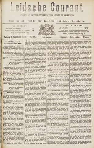 Leydse Courant 1889-11-01