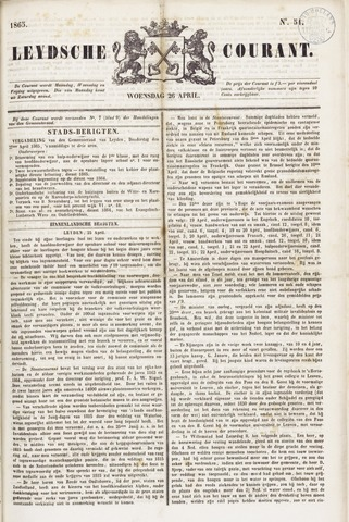 Leydse Courant 1865-04-26
