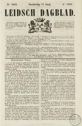 Leidsch Dagblad 1863-06-11