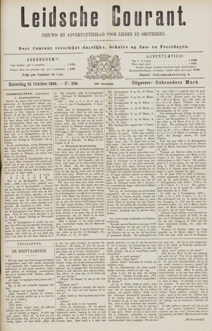 Leydse Courant 1885-10-31