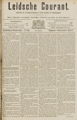 Leydse Courant 1885-10-15