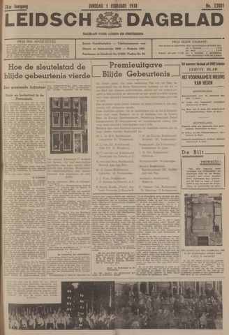 Leidsch Dagblad 1938-02-01