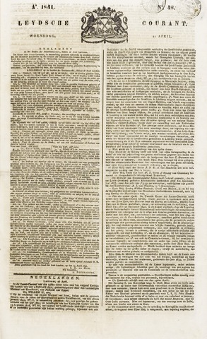 Leydse Courant 1841-04-21