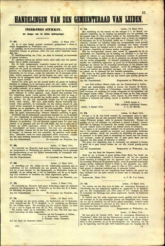 Handelingen van de Raad 1874-03-16