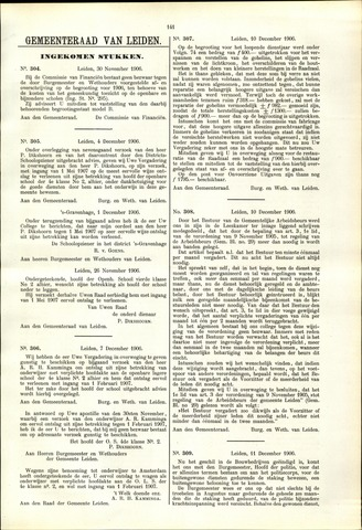 Handelingen van de Raad 1906-11-30
