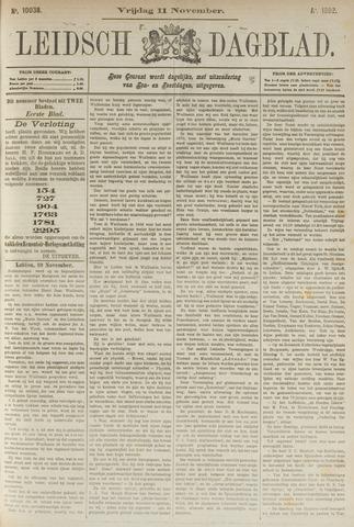 Leidsch Dagblad 1892-11-11