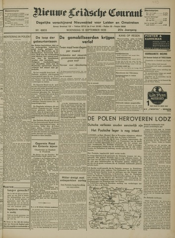 Nieuwe Leidsche Courant 1939-09-13