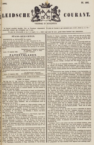 Leydse Courant 1884-08-15