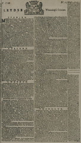 Leydse Courant 1749-02-26