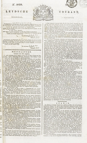 Leydse Courant 1839-08-07