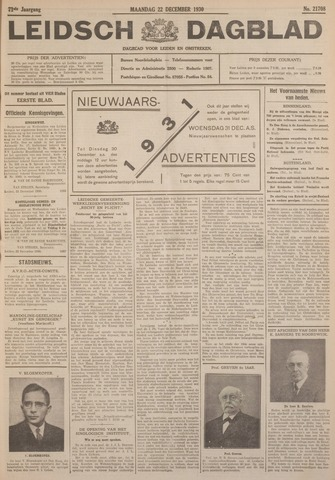 Leidsch Dagblad 1930-12-22