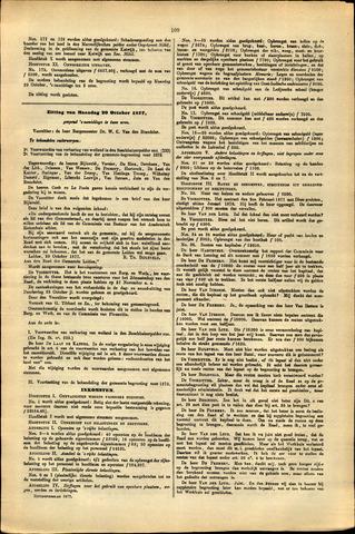 Handelingen van de Raad 1877-10-29