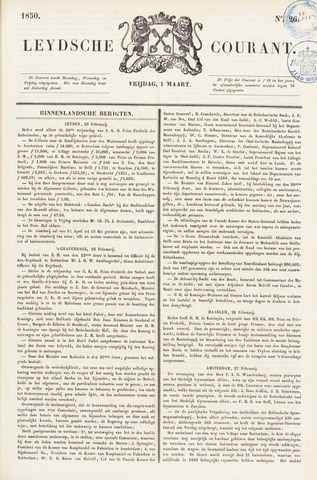 Leydse Courant 1850-03-01