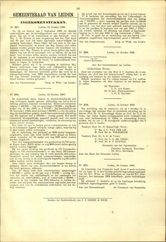 Handelingen van de Raad 1909-10-12