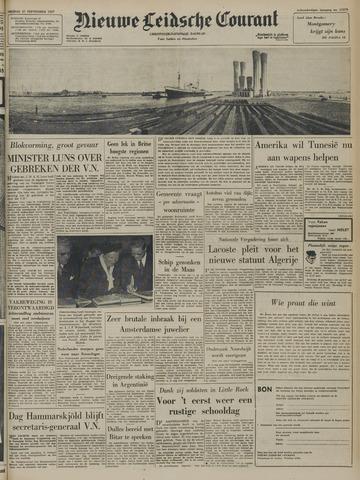 Nieuwe Leidsche Courant 1957-09-27