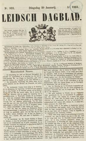 Leidsch Dagblad 1863-01-20