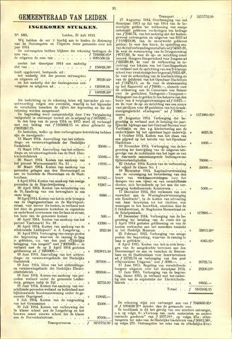 Handelingen van de Raad 1915-07-31