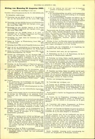 Handelingen van de Raad 1925-08-24