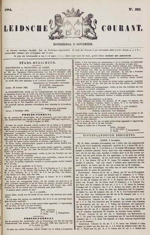 Leydse Courant 1884-11-06