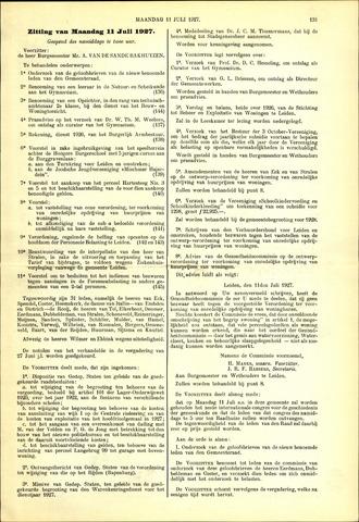 Handelingen van de Raad 1927-07-11