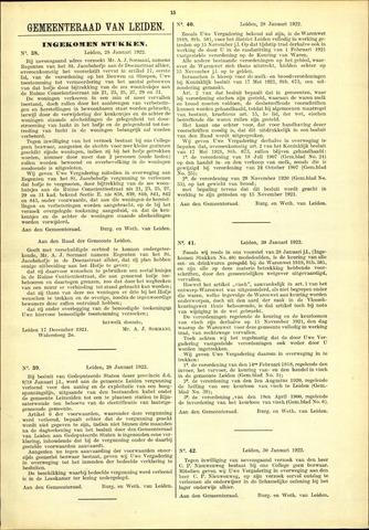 Handelingen van de Raad 1922-01-28
