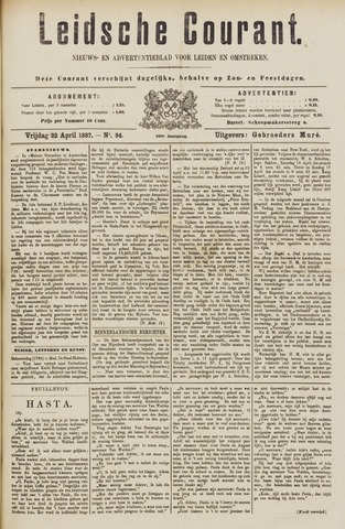 Leydse Courant 1887-04-22