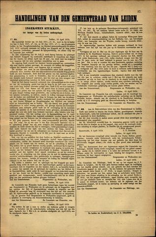 Handelingen van de Raad 1872-04-18