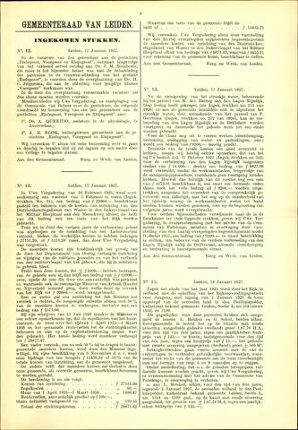 Handelingen van de Raad 1927-01-17
