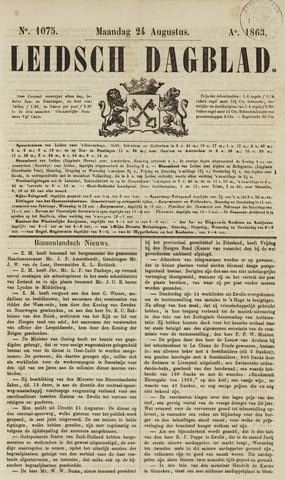 Leidsch Dagblad 1863-08-24