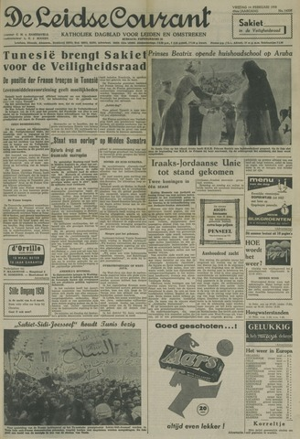 Leidse Courant 1958-02-14