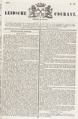 Leydse Courant 1871-03-31