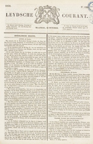 Leydse Courant 1852-10-25