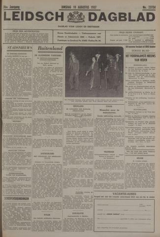 Leidsch Dagblad 1937-08-10