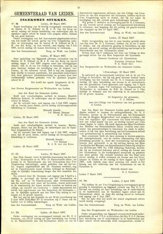 Handelingen van de Raad 1907-03-29