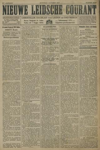 Nieuwe Leidsche Courant 1927-10-01