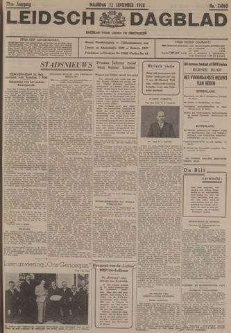 Leidsch Dagblad 1938-09-12