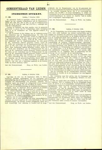 Handelingen van de Raad 1936-10-07